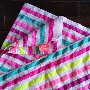 Colorful beach blanket!